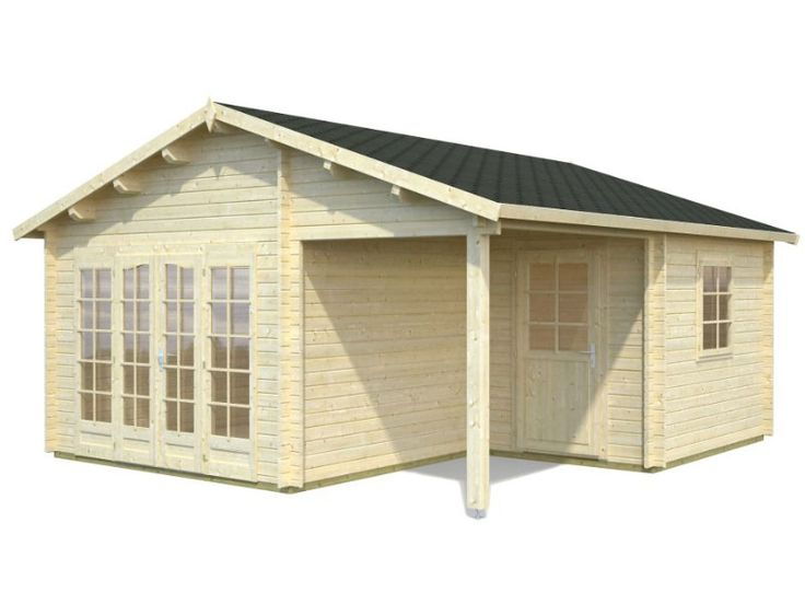 $9,940 DIY Small Log Cabin Kit Cascade, Prefab Wooden Cabin Kit For Sale, Solid wood cabin kits ---