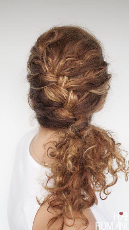 Einfache Frisuren Für Lockiges Haar Neue Frisuren 2018 Pinterest