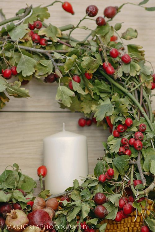 Simple natural Christmas Wreath.