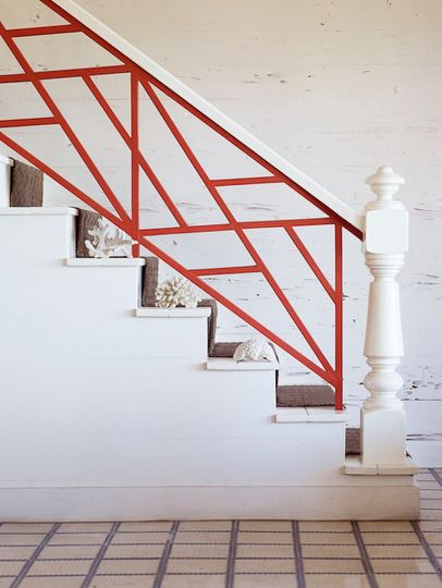 painted stair railing