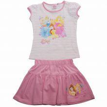 Set fustita/tricou Princess - alb/roz