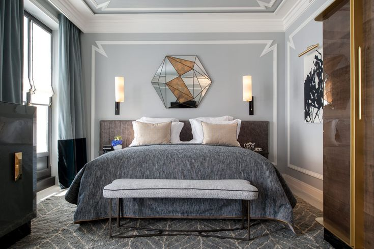 Deluxe Guest Room at the Nolinski Hotel in Paris, France where guests that book through @5staralliance receive a welcome pastry or appetizer with personalized note from the management. Also, guests will have a smartphone at their disposal which includes unlimited international phone calls and internet.