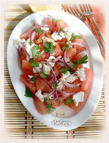 Салат из арбуза с фетой : Салаты