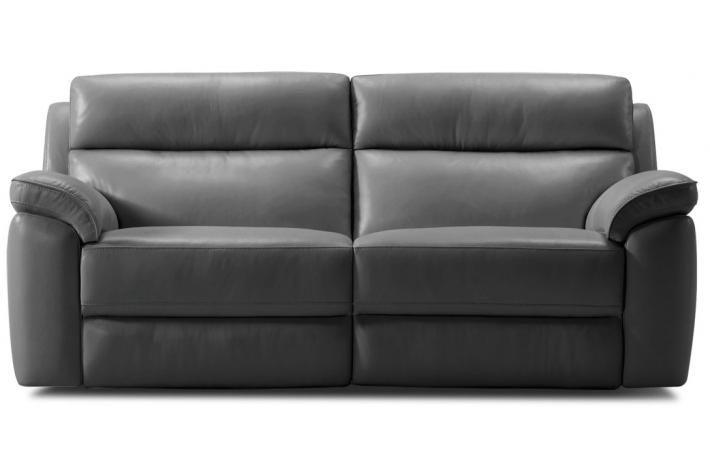 Canapé relaxation Manuel 3 places en cuir VIRGINIA design pas cher sur SoFactory