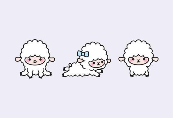 Premium Vector Clipart Kawaii Lambs Cute Lamb Clipart Set High Quality Vectors Instant Download Kawaii Clipart Kawaii Sheep In 2021 Cute Easy Drawings Cartoon Lamb Clip Art