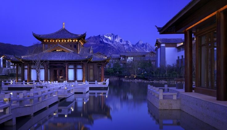 Grand Hyatt Lijiang is surrounded by the beautiful snowy summit of the magnificent and holy Jade Dragon Snow Mountain.