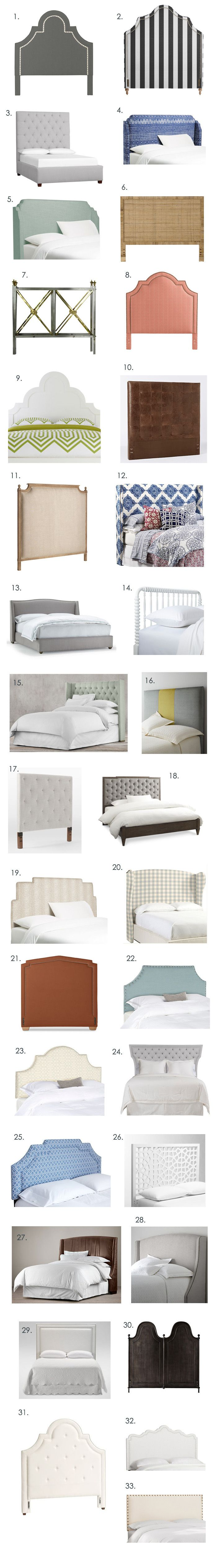 A bunch of you asked for a headboard round-up, and so I am here to deliver! Headboards are an important part of the style in your bedroom, and can make a big impact without the cost of a whole bed. wh