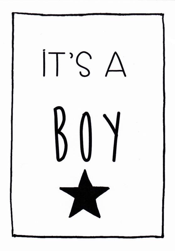 Kaart Boy, it's a boy #hoeraeenjongen #hooraythanks