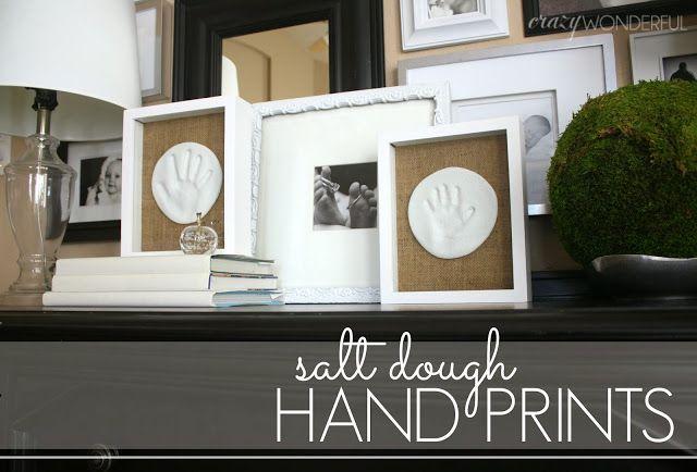 Crazy Wonderful: salt dough hand prints