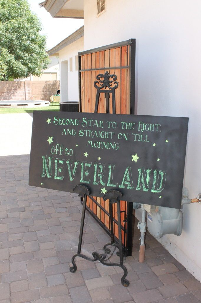 THE cutest Peter Pan and Tinkerbell Party EVER - www.classyclutter.net I would love this for my daughters room!