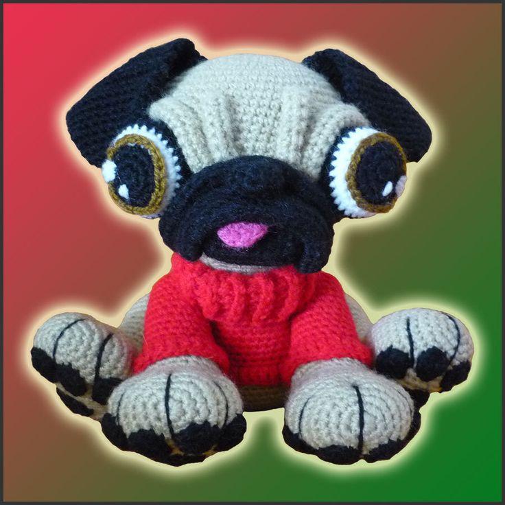 Amigurumi Pattern Crochet Barry Pug Dog DIY Instant Digital Download by DeliciousCrochet on Etsy https://www.etsy.com/listing/220132506/amigurumi-pattern-crochet-barry-pug-dog