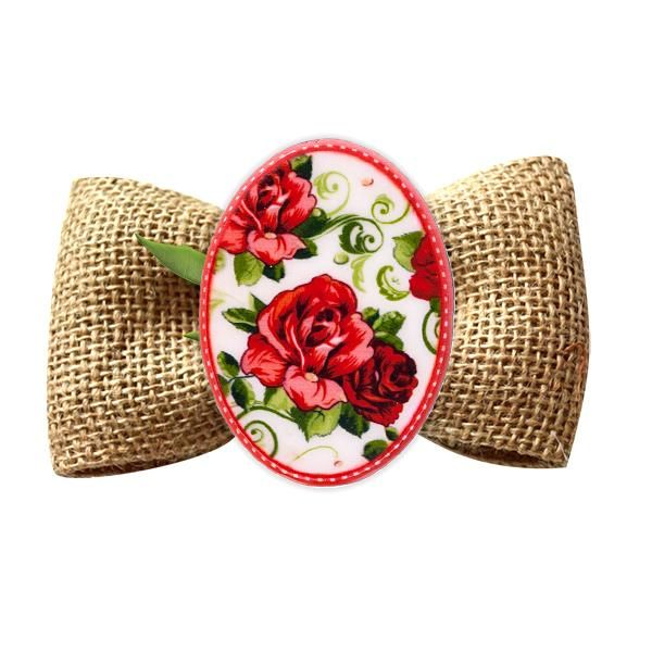 Broșă mărțișor Trandafiri roșii