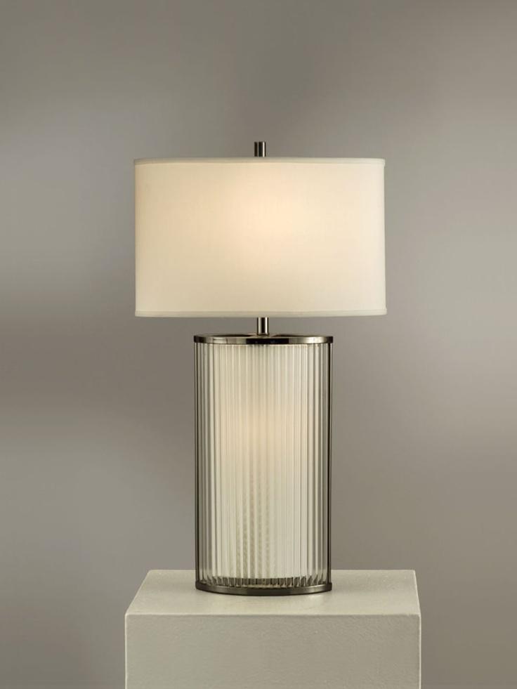 NOVA Lighting Luci Table Lamp, Black Nickel And White Shade