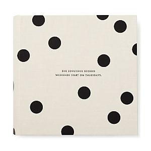 Kate Spade New York Large Photo Album, Black Dots