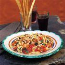 Spaghetti with Eggplant, Cheese and Tomato Sauce (Spaghetti alla Norma) Recipe on Williams-Sonoma.com
