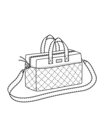 50f82304c1f1 Сумка из нейлона - выкройка № 133 из журнала 10/2017 Burda – выкройки сумок  на | BURDA