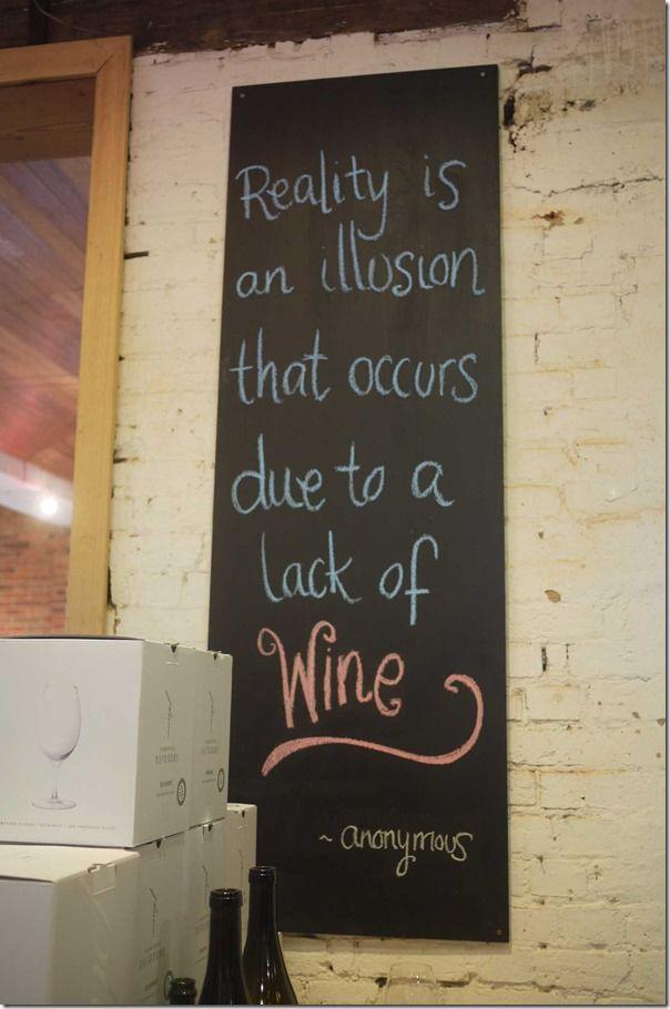 Lack of wine...