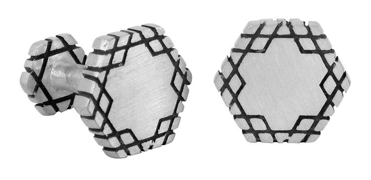 The Creator cufflinks in sterling silver