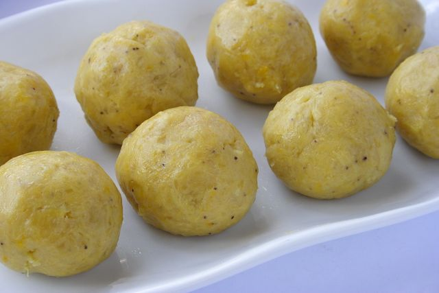 Traditional and delicious recipe for yam fufu (dumplings) modernized with the use of a food processor.