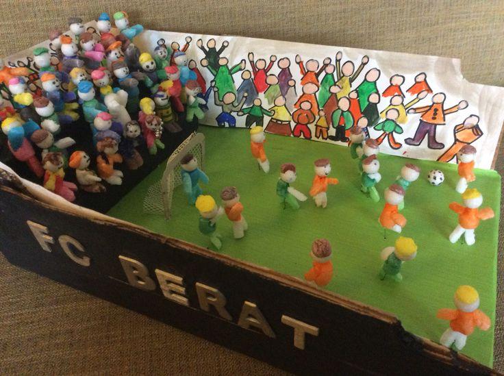 Voetbal stadion surprise Sinterklaas.