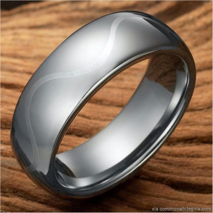 This Stunning Style Will Definitely Add A Unique Upscale Touch To Your Look Featuring Clean Silver Tungsten Design Beautifully Adorned With Lengthwise