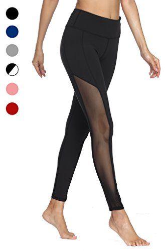 dh Garment Legging Sport Femme Yoga Pantalon Moulant avec Poche TailleHaute  Amincissant Coton - Noir - Taille M   38 8fcb9b4be57