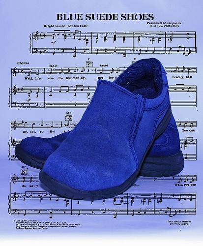 Elvis Presley Blue Suede Shoes Color Lyrics