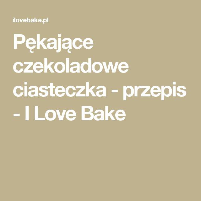 Pękające czekoladowe ciasteczka - przepis - I Love Bake