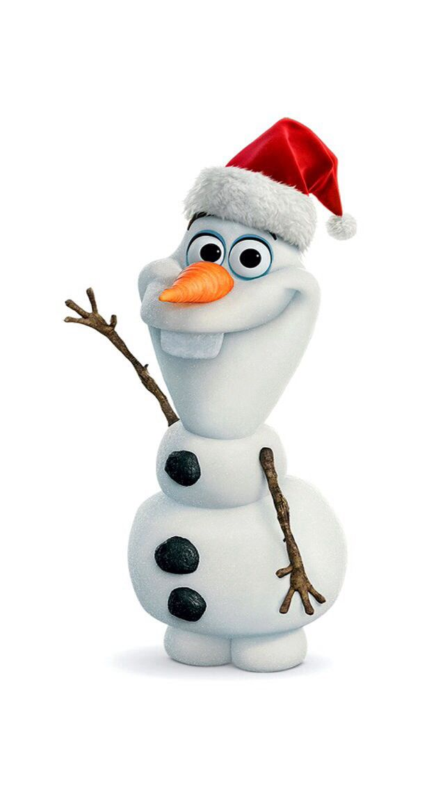 Frozen/ Olaf in a Christmas Santa hat