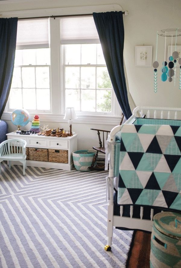 Teal Navy White Nursery By P S Creative Photo By Greer