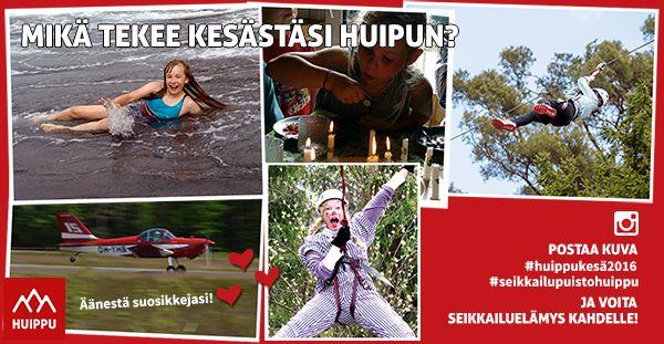 Osallistu Instagramissa #huippukesä2016-kuvakisaan ja voita seikkailuelämys kahdelle Seikkailupuisto Huipussa!