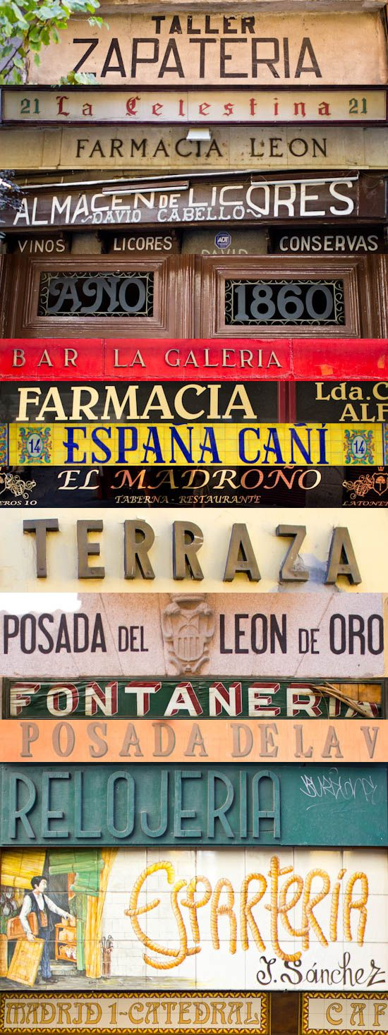 Poppytalk - The beautiful, the decayed and the handmade: Dispatches from Spain: Vintage Typography