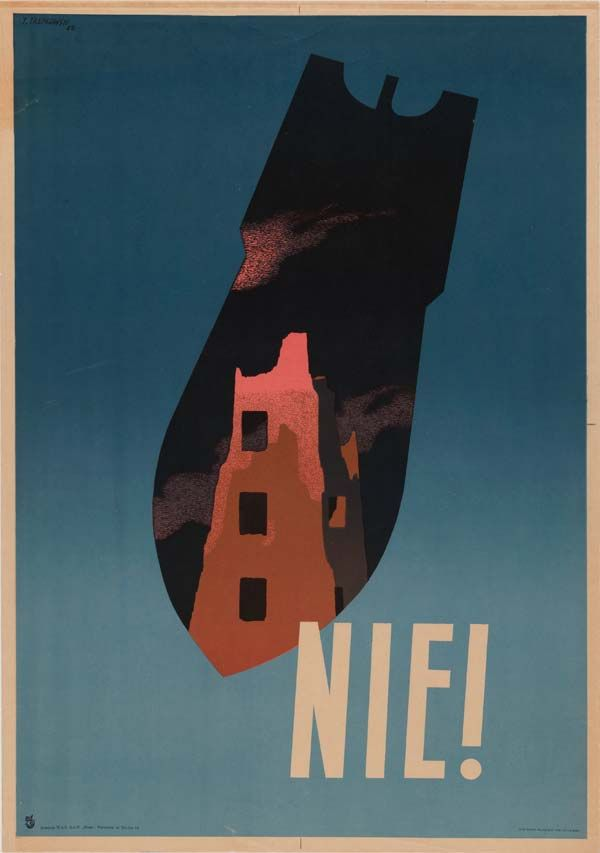 By Tadeuz Trepkowski (1914-1954). Nie! (Never!), 1 9 5 2. The Museum of Modern Art.