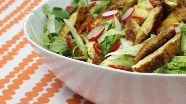 Pittige kippensalade met een avocadodressing - keuken van sofie!
