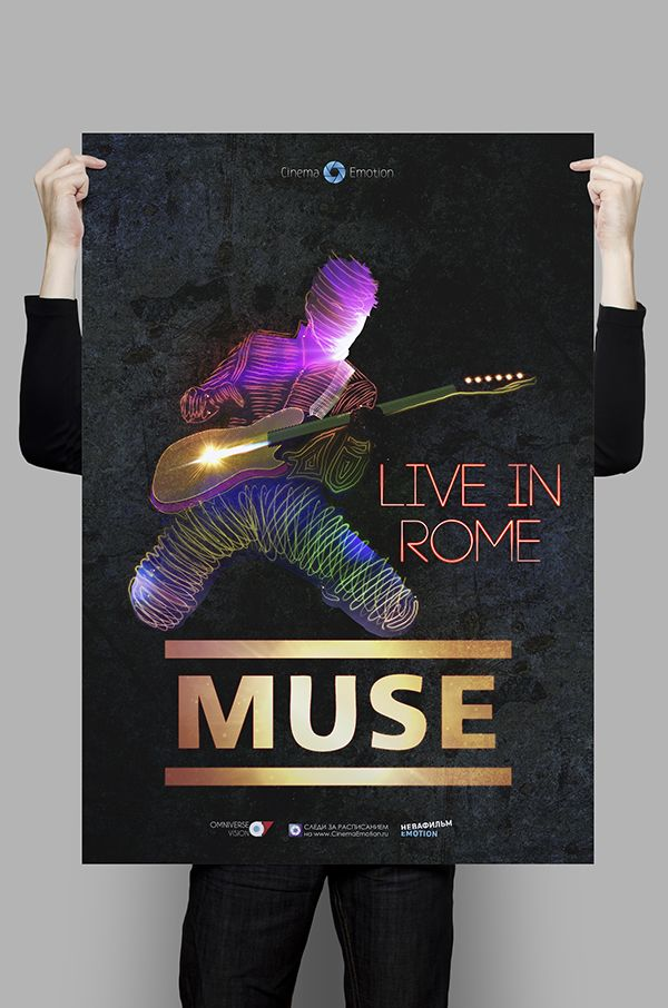 muse live in rome poster design