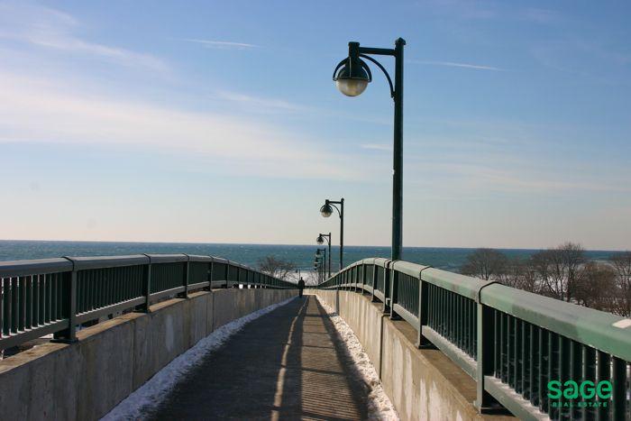 Scenic bridge in Parkdale, Toronto