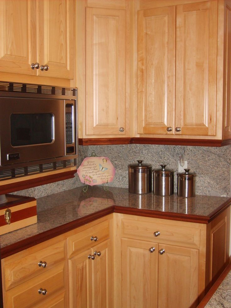 pictures of kitchens with natural maple cabinets | MAPLE ... on Backsplash With Maple Cabinets  id=32393
