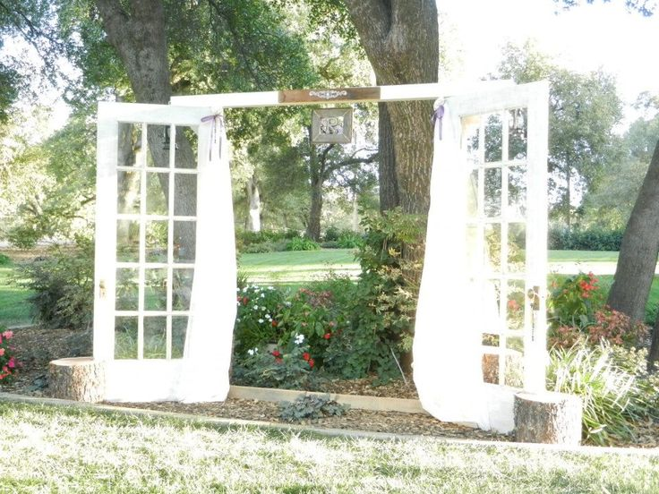1000 images about french window ideas for on pinterest for Wedding door decorating ideas