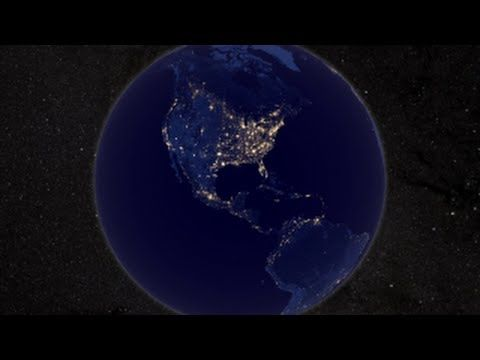NASA | Earth at Night: In daylight our big blue marble is all land, oceans and clouds. But the night - is electric. This new image is a composite of data acquired over nine days in April and thirteen days in October 2012. It took 312 satellite orbits and 2.5 terabytes of data to get a clear shot of every parcel of land surface. #Earth_at_Night #NASA