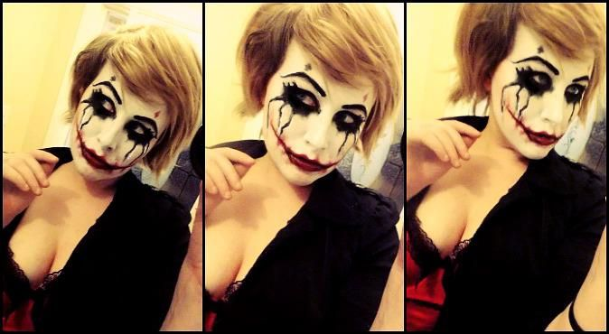 Harley Quinn makeup...this is so badass