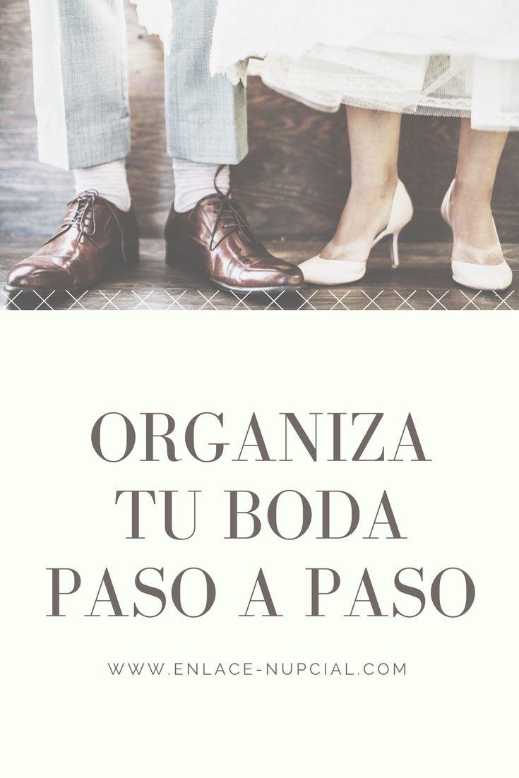 ¡Organiza tu boda paso a paso con ésta guía para estar lista para el gran día! #bodas #organizarunaboda