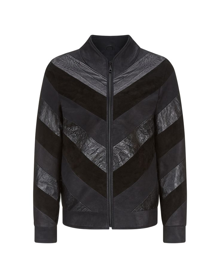 Charlotte Zimbehl's leather bomber jacket 'The Suzi' in a black leather mix. Made in London.