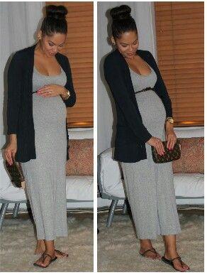 7c124ffcaf31 Maternity fashion: Cute idea to throw a cardigan over a summer maxi dress  and add a belt!   ZBABY: Maternity Clothes   Maternity fashion, Summer  maternity ...