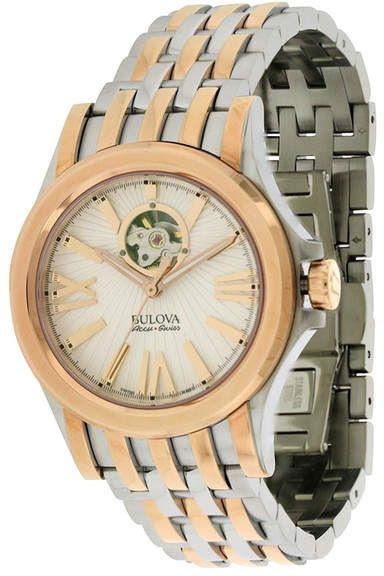 Bulova Men's Kirkwood Two-Tone Bracelet Watch, 39mm. Bulova Mens Watches.