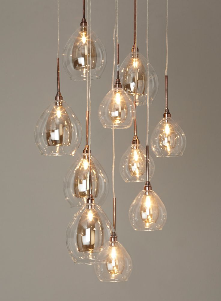 BHS Illuminate Atelier Carmella 10 Light Cluster Glass And Copper Ceiling For The Dining Room Chandelier