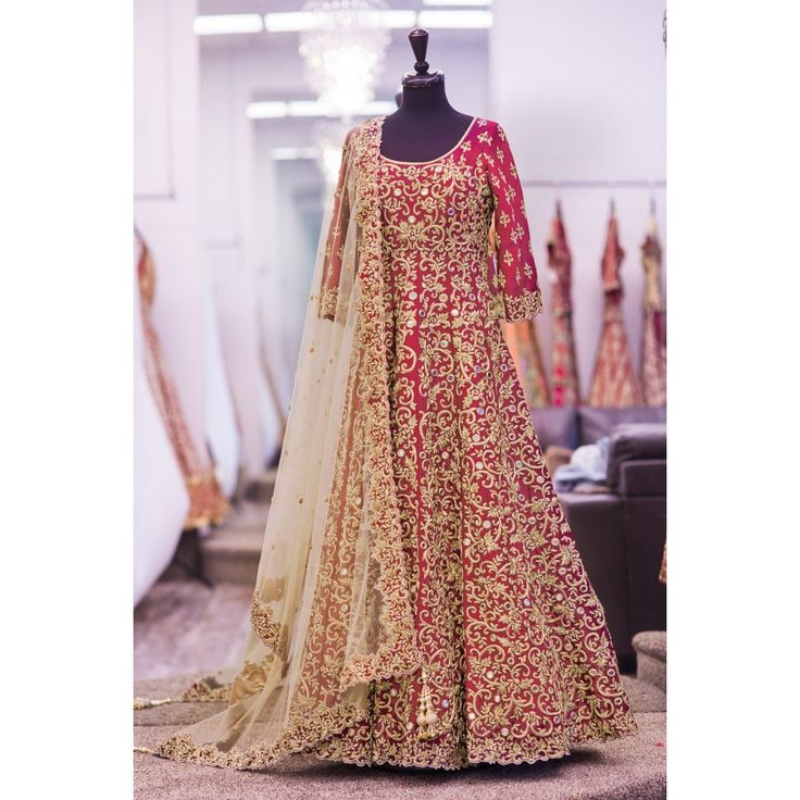 Attractive Red Color Heavy Embroiderey Work Semi Stitch Gown at just Rs.2835/- on www.vendorvilla.com. Cash on Delivery, Easy Returns, Lowest Price.