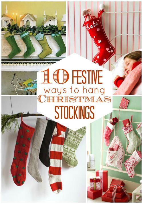 Festive ways to hang christmas stockings