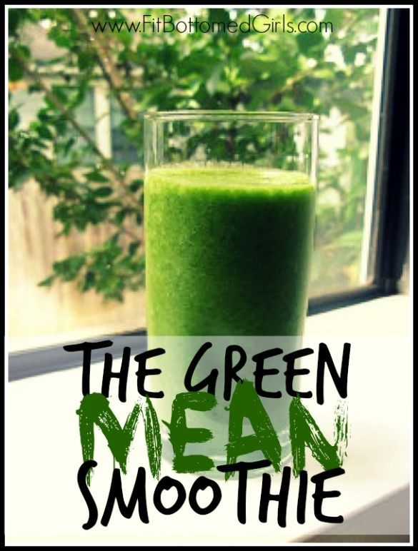 Energize with this mean green smoothie recipe! | Fit Bottomed Girls
