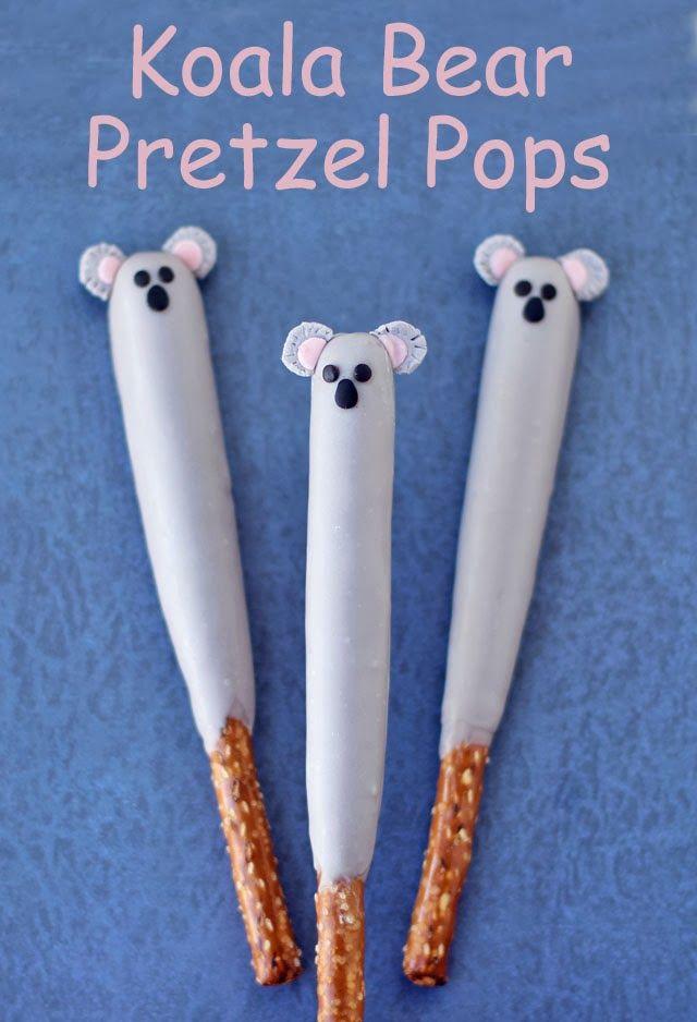 Koala Pretzel Pops  from HungryHappenings.com
