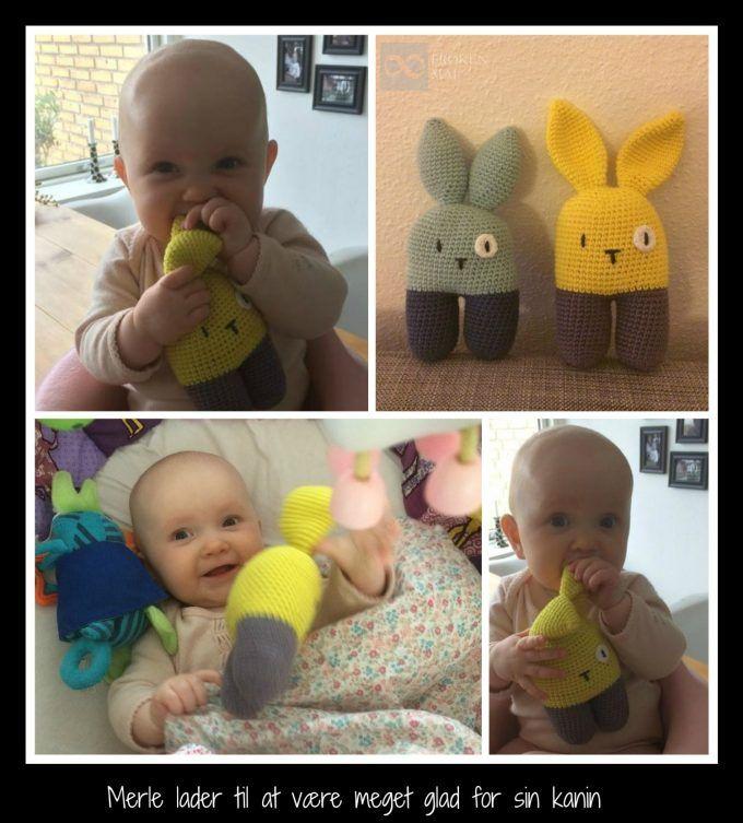 Hæklet tobenet kanin (rangle) - 2-legged rabbit (rattle) Crochet